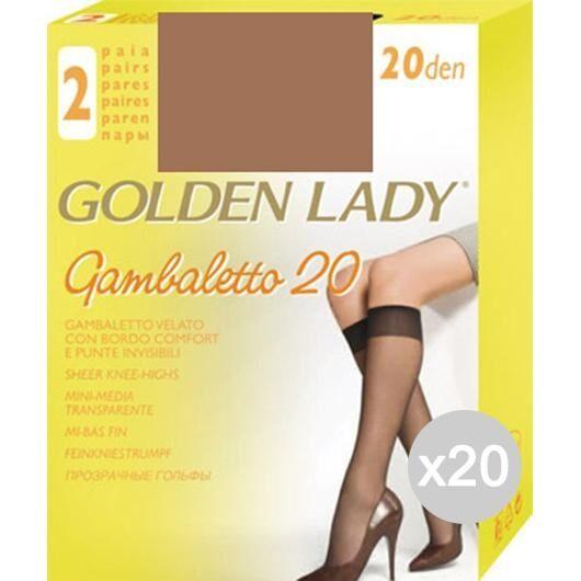 Golden Lady Set 20  Gambaletto Melone X2 Filanca 20 Den Calza Da Donna Accessorio Moda