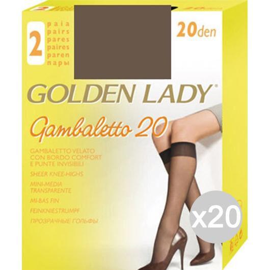 Golden Lady Set 20  Gambaletto Castoro X2 Filanca 20 Den Calza Da Donna Accessorio Moda