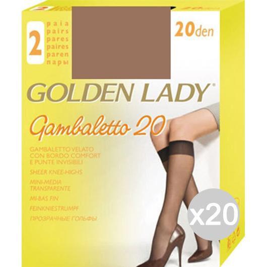 Golden Lady Set 20  Gambaletto Daino X2 Filanca 20 Den Calza Da Donna Accessorio Moda