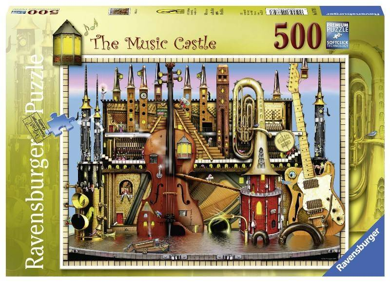 RAVENSBURGER Puzzle 500 Pezzi The Music Castle Puzzle Giocattolo 304