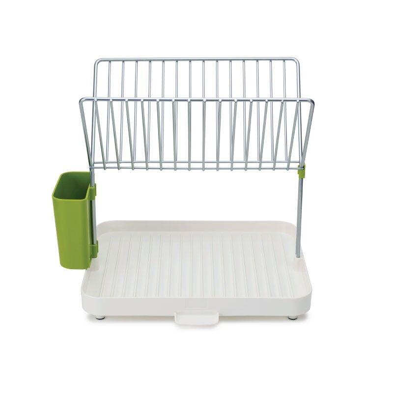 joseph joseph self-draining dish rack (y-rack) white and green