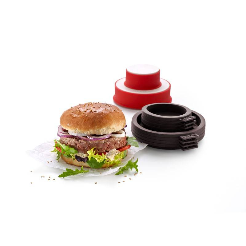 lekue kit burger brown and red