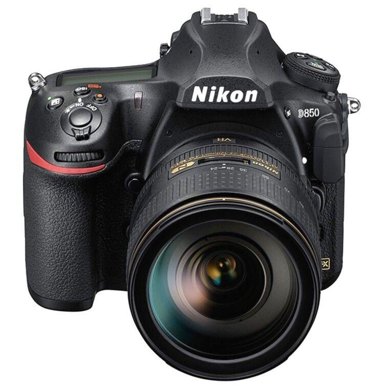 nikon fotocamera d850+kit-af-s 24-120 vr – 2/4 anni garanzia italia – menu italiano-pronta consegna