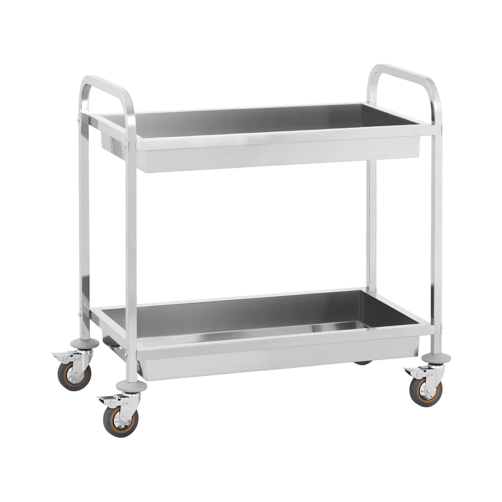 royal catering carrello di servizio - 2 contenitori - per uso professionale