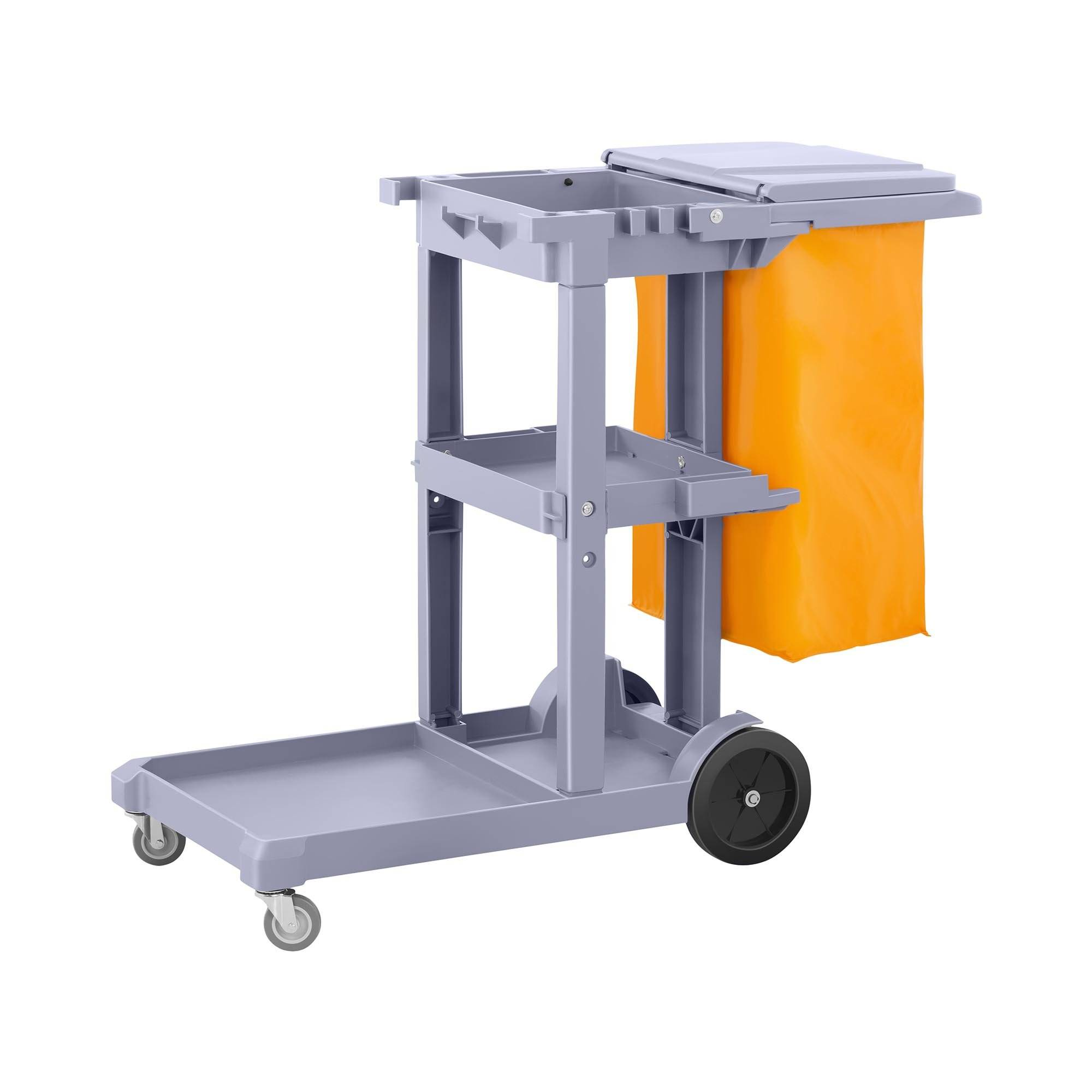 ulsonix carrello multiuso per pulizie con sacco per biancheria e coperchio uniclean 6