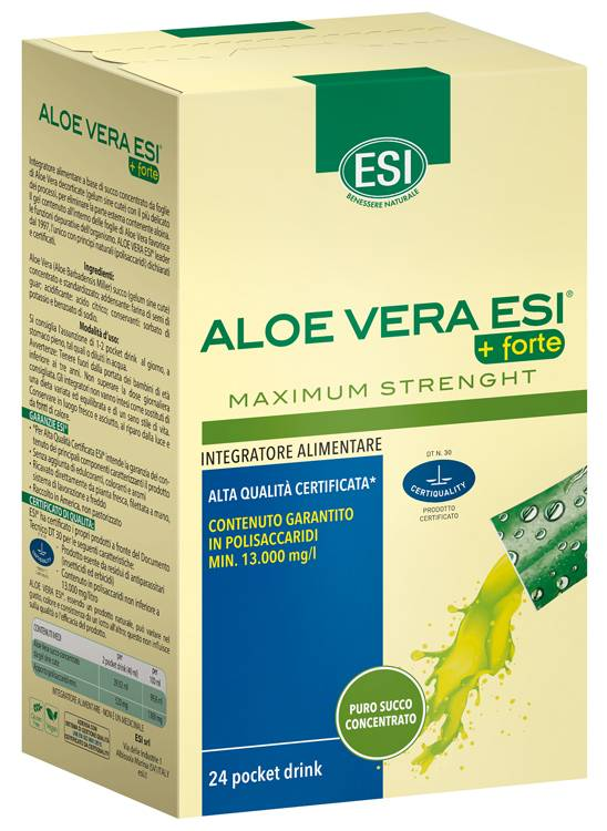 Esi Aloe Vera Succo + Forte 24 Pocket Drink