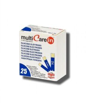 Biochemical System Intern. Strisce Misurazione Glicemia Multicare In Glucosio Elettrodo 25 Pezzi