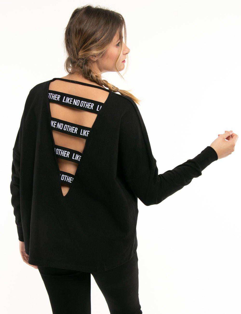 kappa felpa kappa con bande elastiche posteriori nero