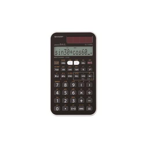 Sharp EL-510RNB calcolatrice Tasca Calcolatrice scientifica Nero