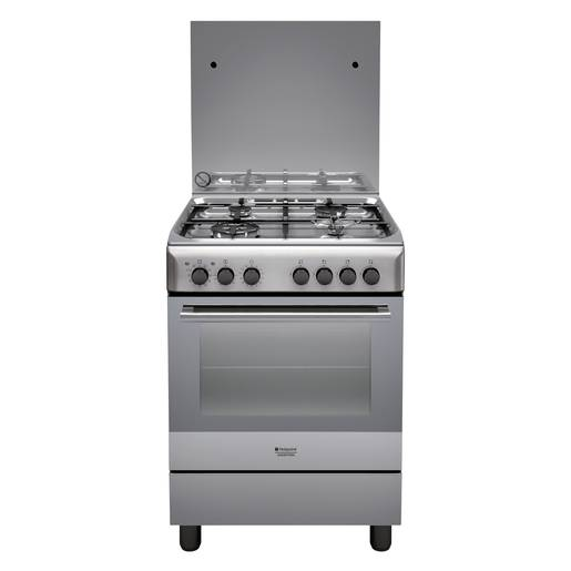 Hotpoint H6TMH2AF (X) IT cucina Piano cottura Acciaio inossidabile Gas