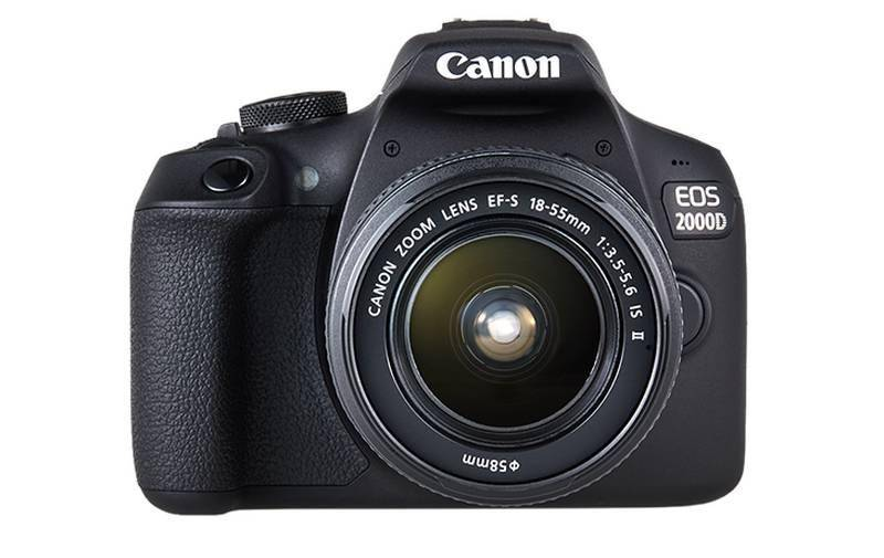 Canon EOS 2000D + 18-55 IS Kit Kit fotocamere SLR 24,1 MP CMOS 6000 x 4000 Pixel Nero
