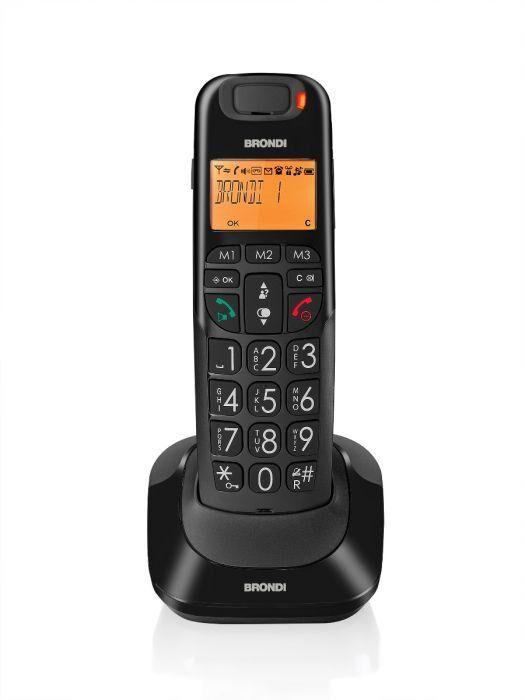 Brondi Bravo Bright Telefono DECT Nero Identificatore di chiamata