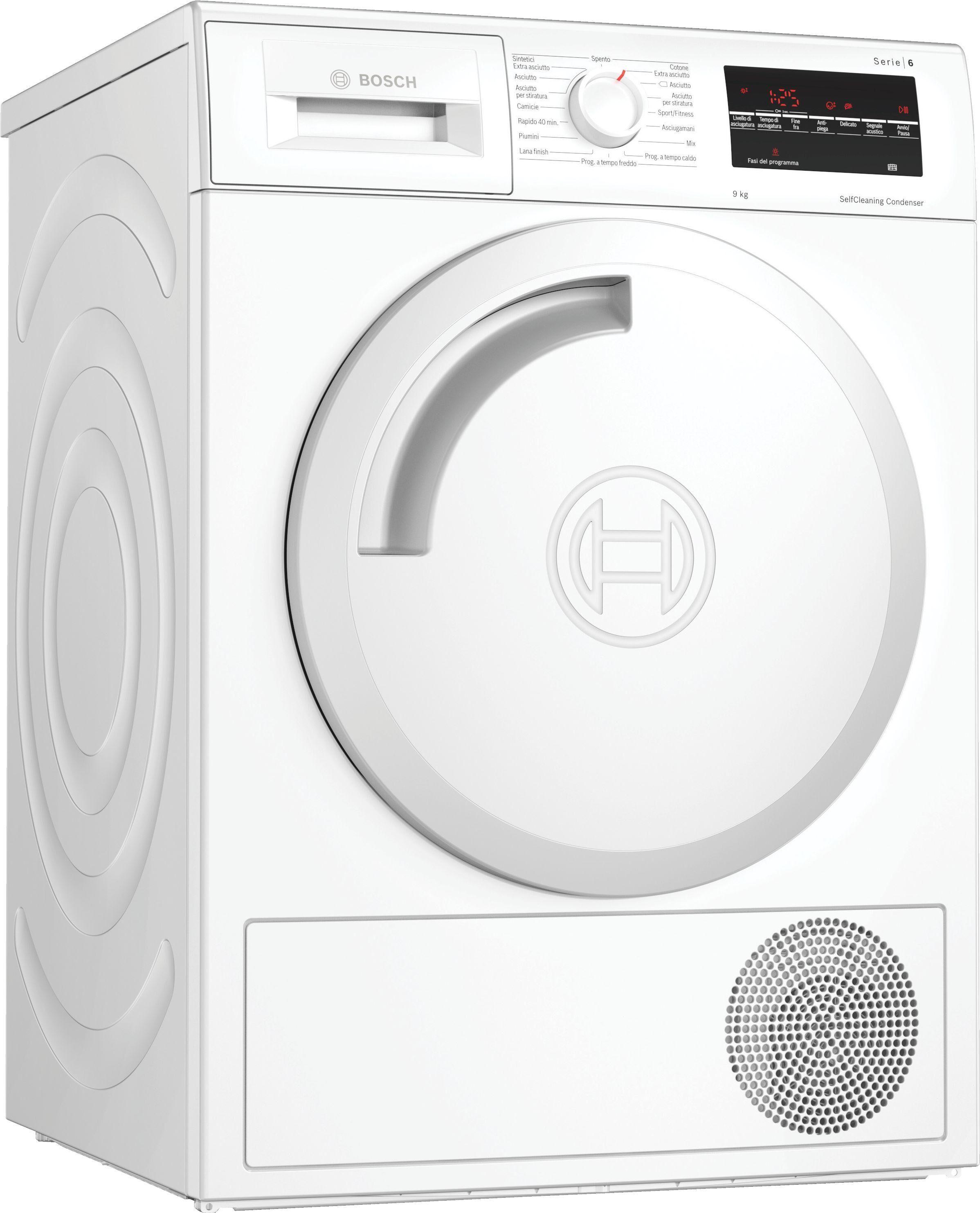 Bosch Serie 6 WTW83449II asciugatrice Libera installazione Caricamento frontale Bianco 9 kg A++ - GARANZIA ITALIA