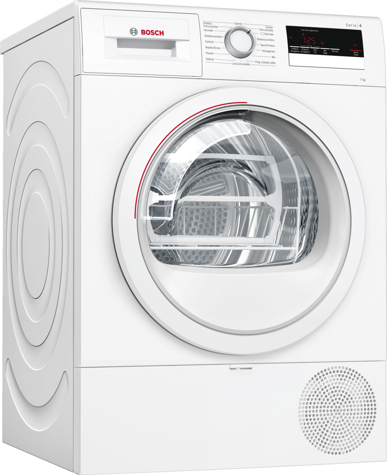 Bosch Serie 4 WTR85V17IT asciugatrice Libera installazione Caricamento frontale Bianco 7 kg A++