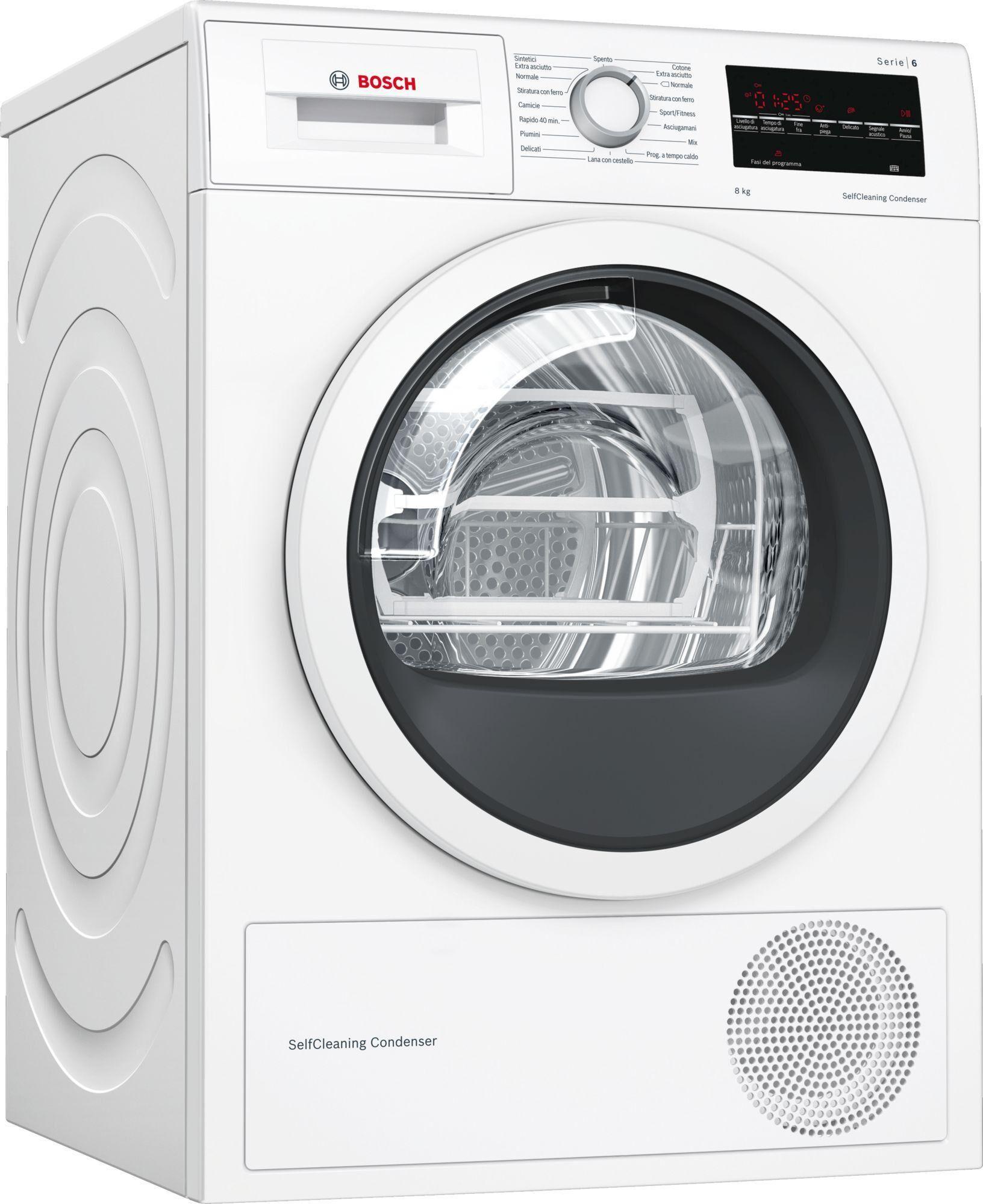 Bosch Serie 6 WTW85448IT asciugatrice Libera installazione Caricamento frontale Bianco 8 kg A++