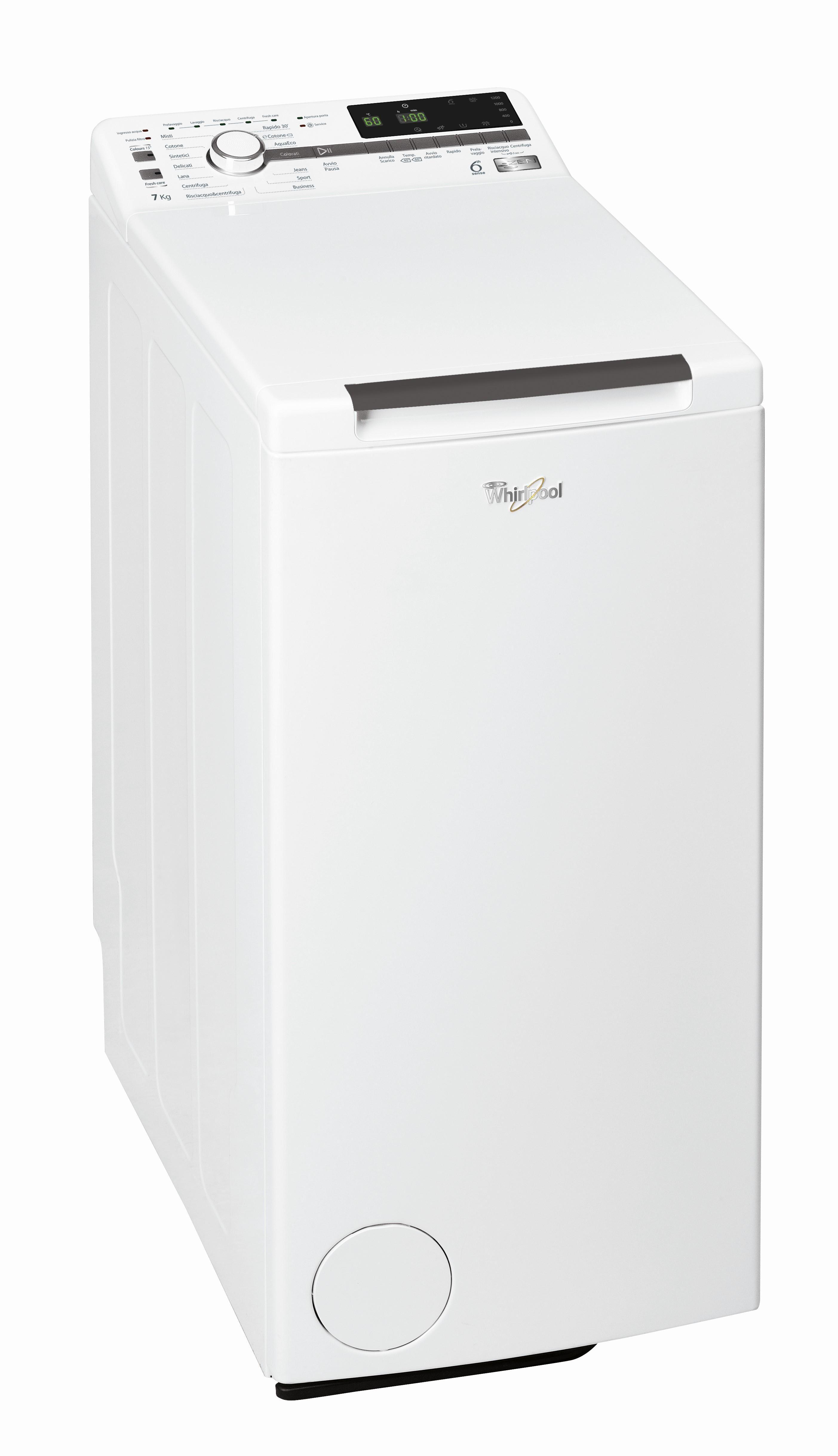 Whirlpool ZEN TDLR 724 lavatrice Libera installazione Caricamento dall'alto Bianco 7 kg 1200 Giri/min A+++