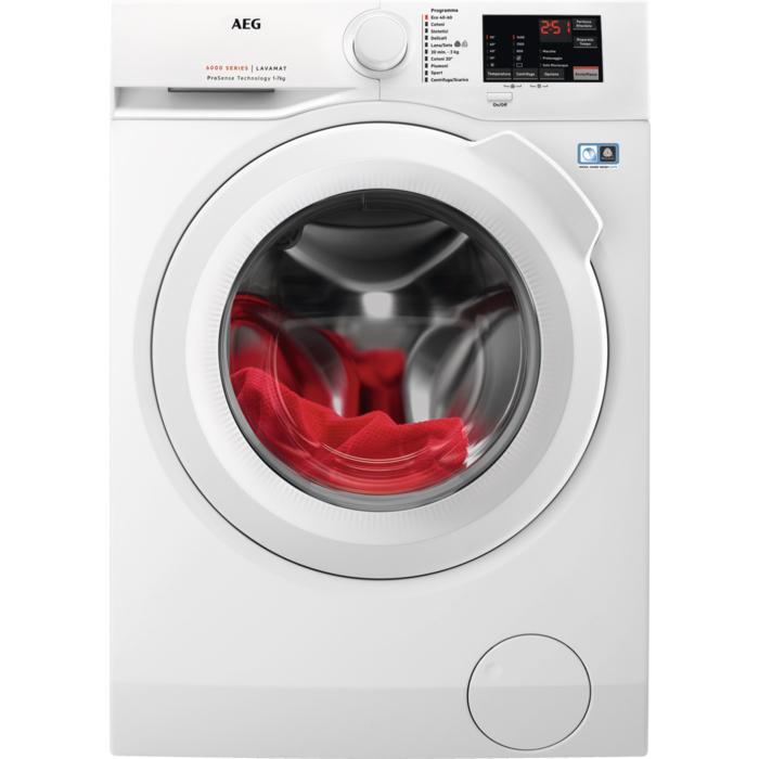 AEG L6FBI743 lavatrice Libera installazione Caricamento frontale 7 kg 1400 Giri/min A+++ Bianco