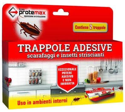 trappole adesive per scarafaggi pronte all'uso 2 pezzi per interni