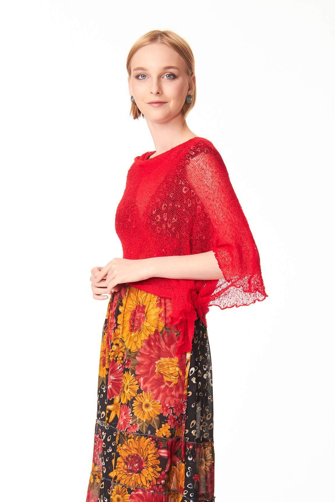 Controcorrente Group Ponchetto Rosso Passion   Accessorio moda donna