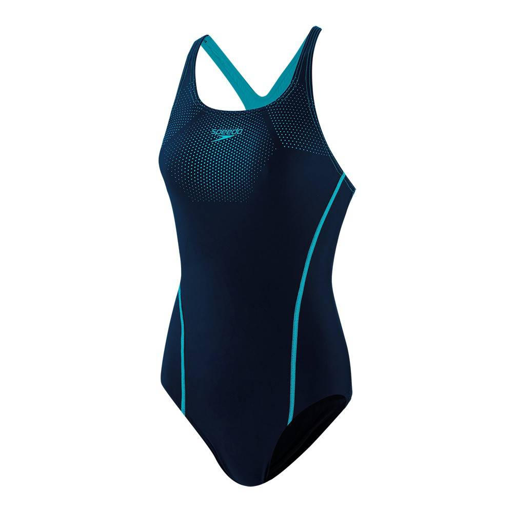 Speedo Costume Intero Piscina Tech Placement Blu Pool Donna 48