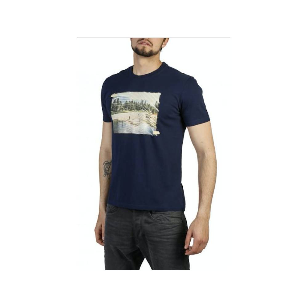 Think Pink T-Shirt Stampa Blu L