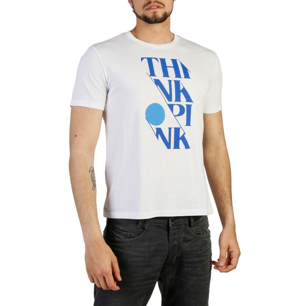 Think Pink T-Shirt Scritta Bianco S