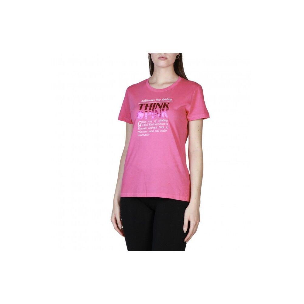Think Pink T-Shirt Logo Donna Fucsia L