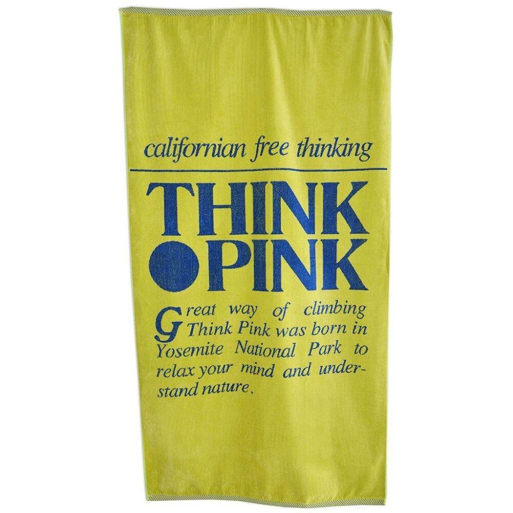 Think Pink Telo Logo Retro' Giallo TU