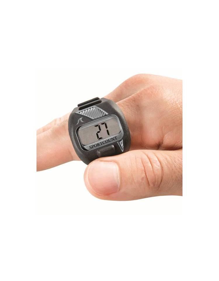 sportcount contavasche digitale da dito per il nuoto lapcounter grigio