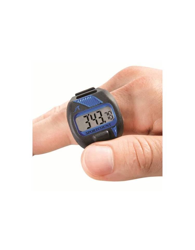 sportcount cronometro con contavasche da dito per nuoto combo blu