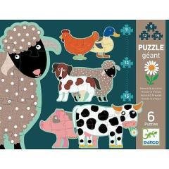 Djeco Honore e amici. Animali fattoria Puzzle Progressivi (DJ07112)