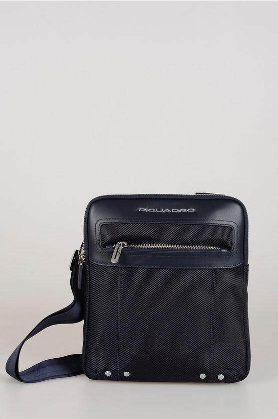 Piquadro LINK Borsello Organizzato a Tracolla Blu taglia Unica
