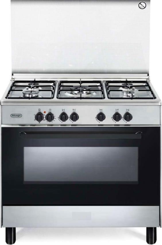 DeLonghi Fmx 96 Cucina A Gas 5 Fuochi Forno Elettrico Multifunzione Con Grill 90x60 Cm Classe A Colore Inox - Fmx 96