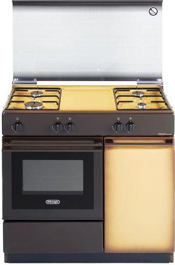 DeLonghi Sgk 854 N Cucina A Gas 4 Fuochi Forno A Gas Larghezza X Profondità 86x50 Cm Con Coperchio Colore Coppertone - Sgk 854 N Linea Smart