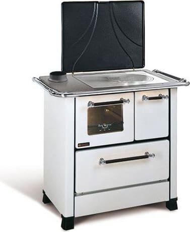 nordica extraflame romantica 3.5 cucina a legna con forno 1 focolare in ghisa potenza 5 kw volume 143 m3 dimensione 88x57 cm colore bianco - romantica 3.5 sx