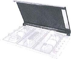 DeLonghi Cvn9 Pl Coperchio Piano Cottura Da 90 Cm In Cristallo Colore Nero - Cvn9 Pl