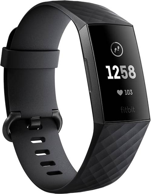 fitbit fb409gmbk smartwatch android orologio fitness bluetooth contacalorie cardiofrequenzimetro gps colore nero - fb409gmbk charge 3