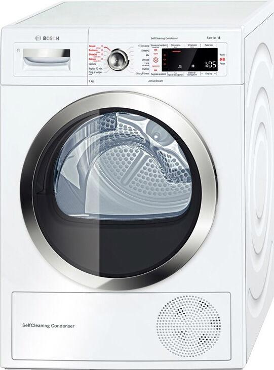 Bosch Wtw855r9it Asciugatrice Asciugabiancheria Capacità Di Carico 9 Kg Classe Energetica A++ Profondità 64 Cm A Condensazione Con Pompa Di Calore E Tecnologia A Vapore - Wtw855r9it Serie 8