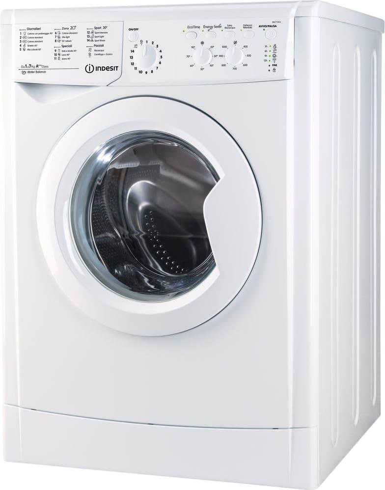 Indesit Iwc 71052 C Eco (It) Lavatrice Carica Frontale Capacità Di Carico 7 Kg Classe Energetica A++ Profondità 52 Cm Centrifuga 1000 Giri - Iwc 71052 C Eco (It)
