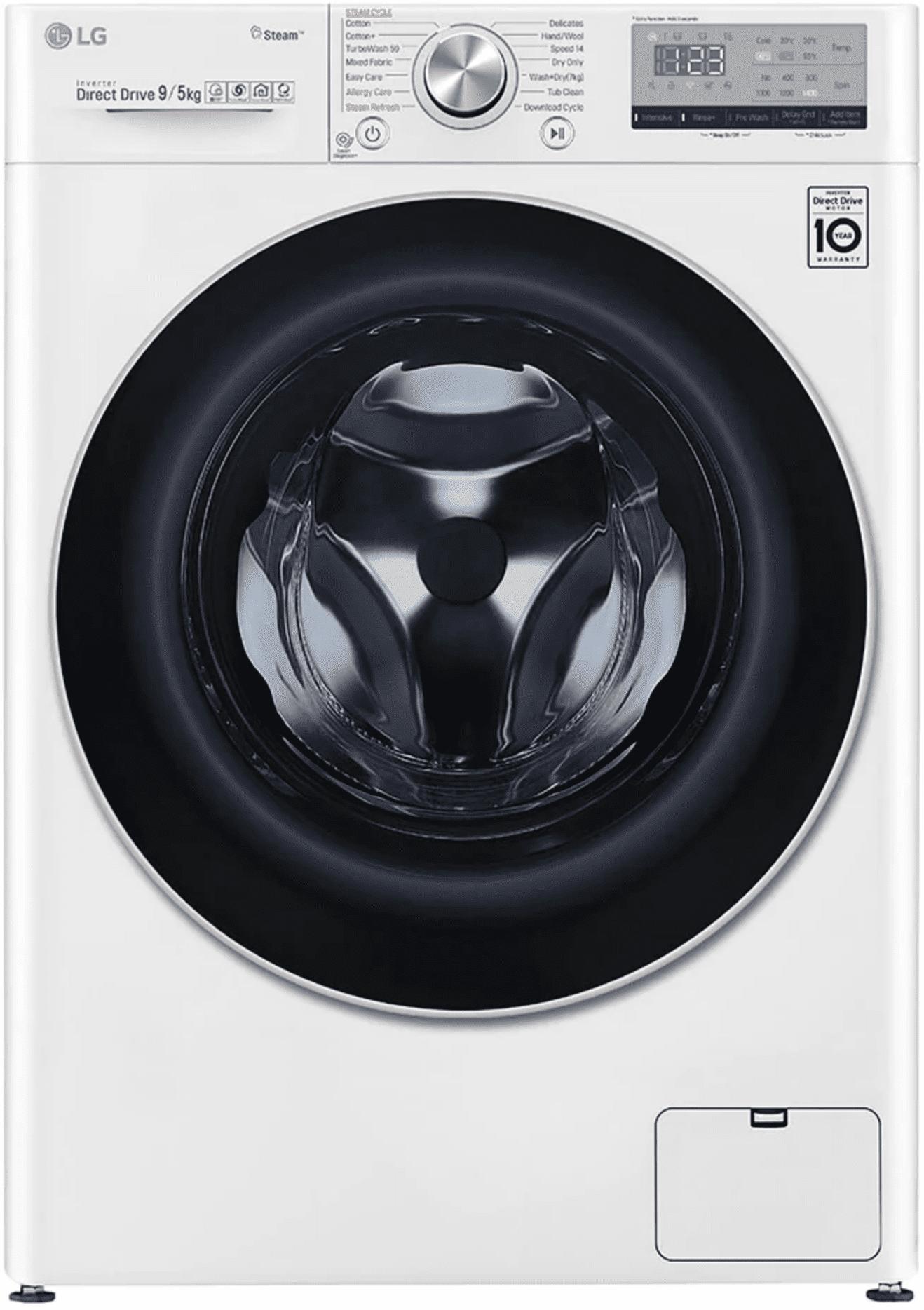 LG F4dv409s0e Lavasciuga Lavatrice Asciugatrice Capacità Di Carico 9 Kg Classe Energetica A Profondità 56 Cm Centrifuga 1400 Giri Motore Inverter Funzione Vapore - F4dv409s0e