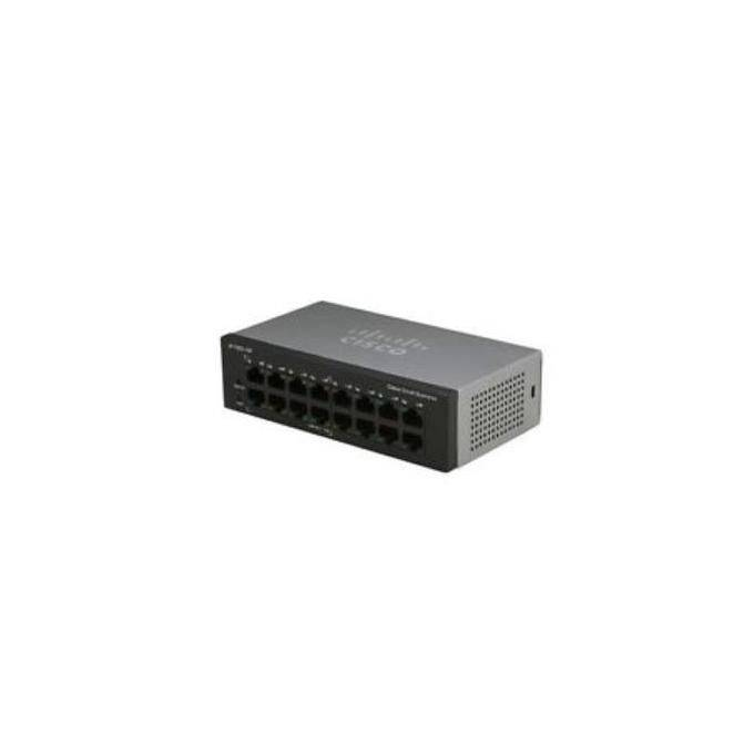 Cisco Systems Sf110d-16hp 16-port 10 100 poe Desktop Switch