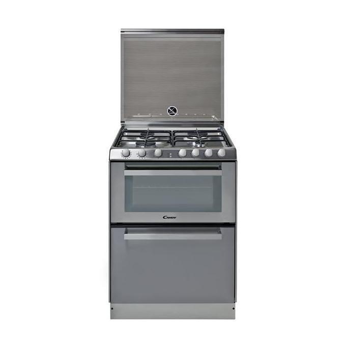 Candy TRIO95011X Cucina 60cm 4 Fuochi a Gas Forno Elettrico 41Lt Lavastoviglie 6 Coperti A Inox