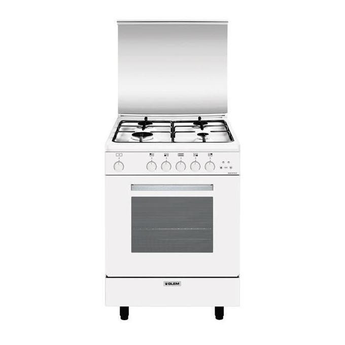 GLEM GAS A664VX Cucina a Gas con Forno Ventilato 64Lt 60x60cm Bianco
