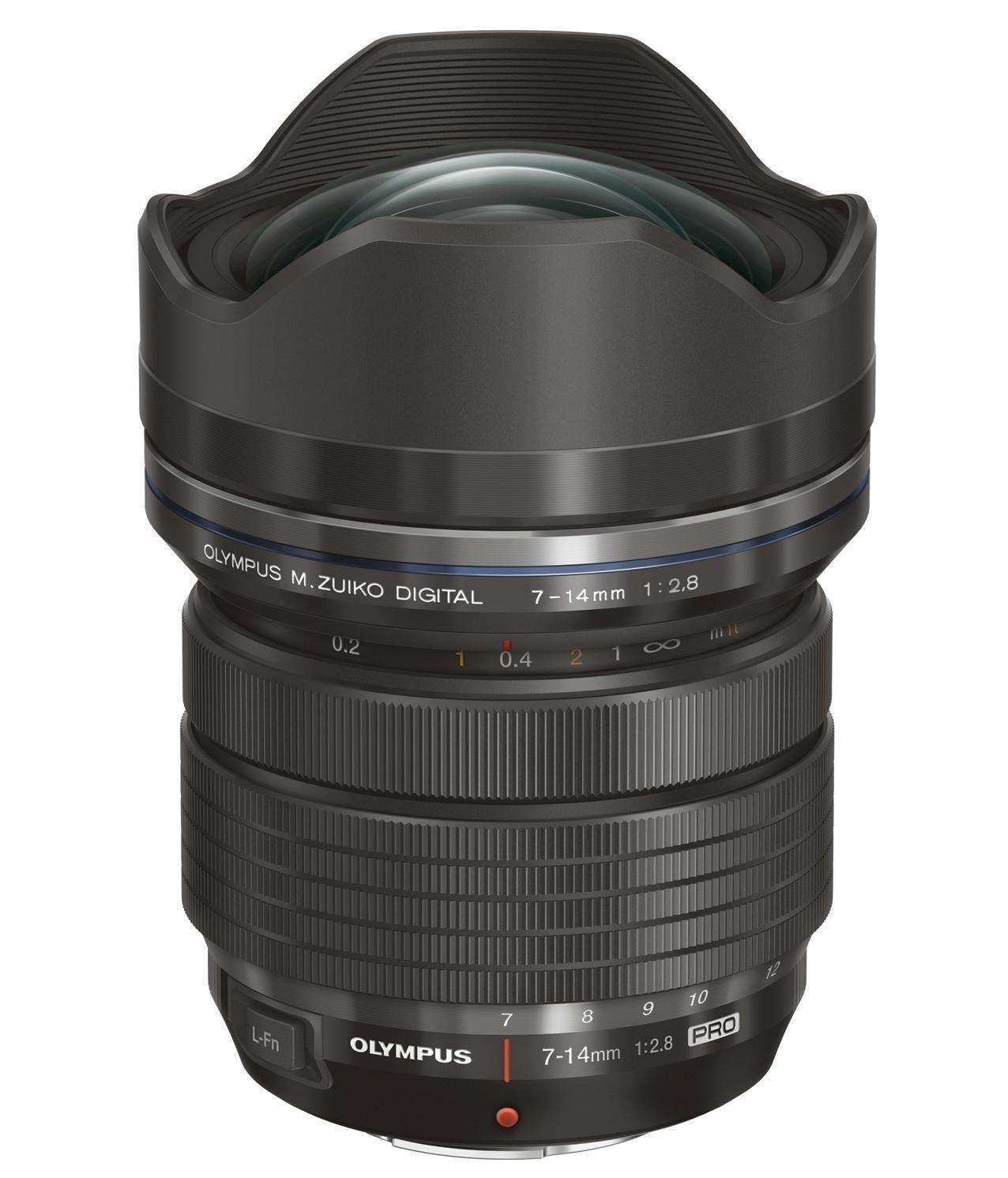 Olympus ED7-14MM Obiettivo Zuiko Digital 1:2.8 Pro, Nero