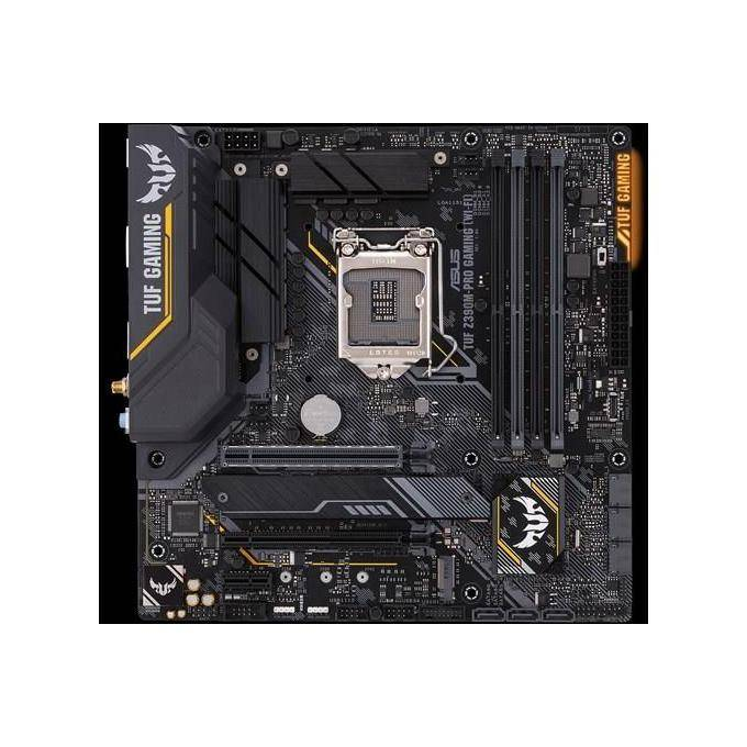 Asus TUF Z390M-PRO GAMING (WI-FI) Intel Z390 Micro ATX Scheda Madre gaming OptiMem II, Supporto DDR4 a 4266+ MHz, 802.11ac WiFi, 32 Gbps M.2, USB 3.1 Gen 2 Nativo, Nero