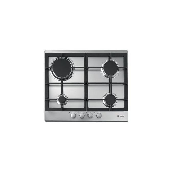 Candy CPG 64SGX Piano Cottura 4 Fuochi Gas Inox