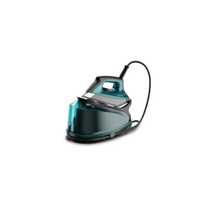 Rowenta Compact Steam Pro Ferro da Stiro con Caldaia Microsteam 400 Hd Blu Nero