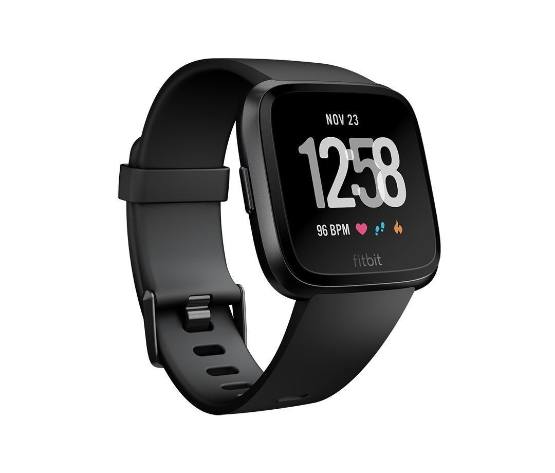 fitbit versa smartwatch con funzione di activity tracker unisex adulto nero