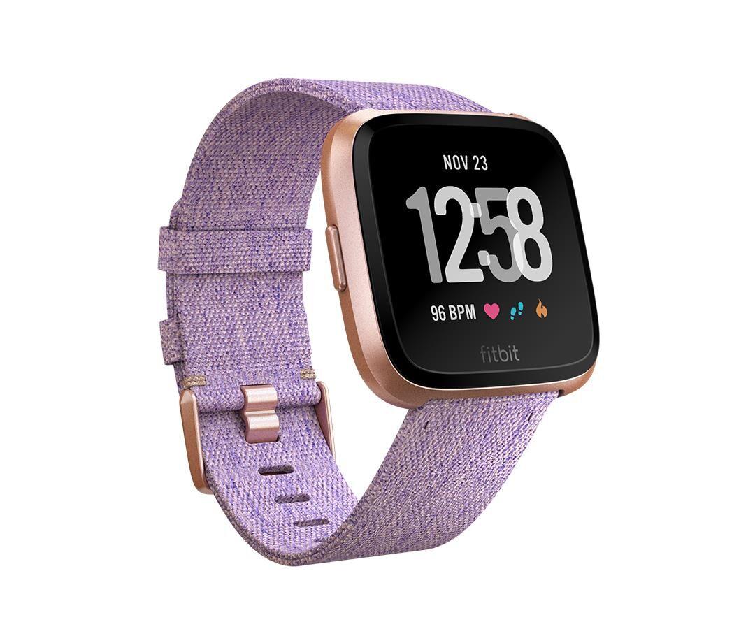 fitbit versa smartwatch con funzione di activity tracker unisex adulto viola