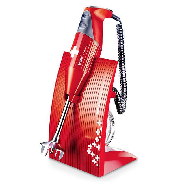 bamix frullatore ad immersione bamix swissline rosso + libro ricette!